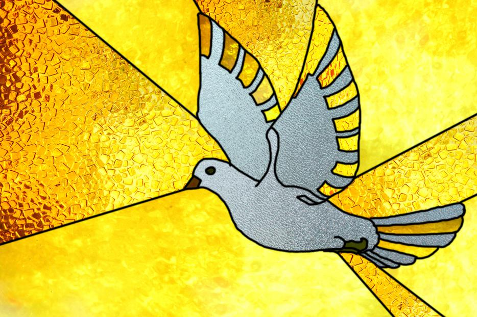 """Representing the Holy Spirit that descended """"like a dove"""" and hovered over Jesus when he was baptized."""