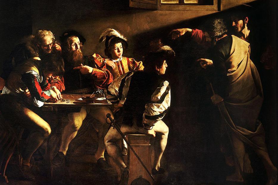 Caravaggio, 'The Calling of St. Matthew,' 1599–1600