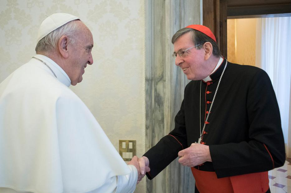 Pope Francis with Cardinal Kurt Koch, president of the Pontifical Council for Promoting Christian Unity, in Vatican City on December 14, 2017.