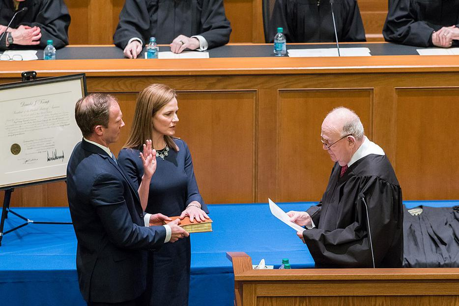 Judge Amy Coney Barrett at her Investiture Ceremony.