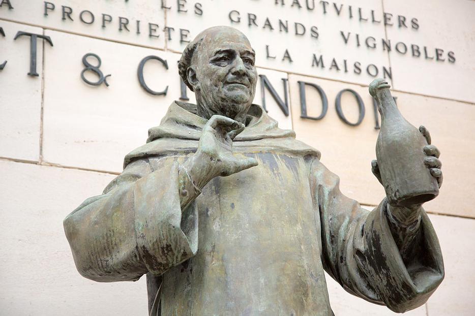 Moët & Chandon Dom Perignon sculpture.