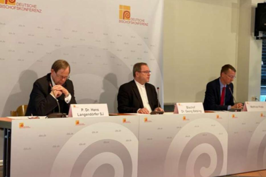 The final press conference of the German bishops' fall general assembly Sept. 24, 2020 in Fulda.