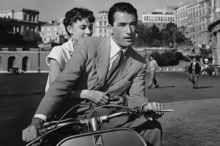 Audrey Hepburn and Gregory Peck star in 'Roman Holiday.'
