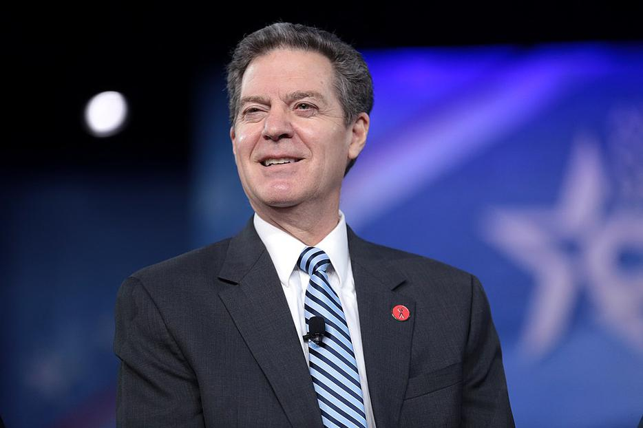 Governor Sam Brownback of Kansas speaking at the 2017 Conservative Political Action Conference (CPAC) in National Harbor, Maryland