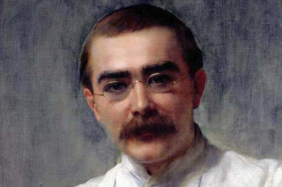 "John Collier [1850-1932], ""Portrait of Rudyard Kipling"""