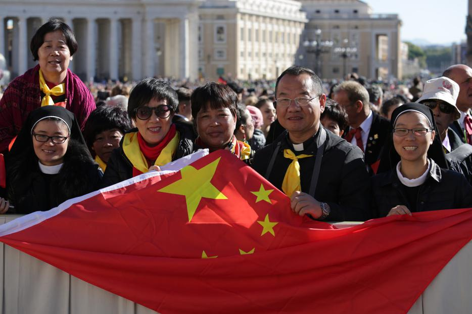 Pilgrims from China at the general audience in St. Peter's Square on October 12, 2016.