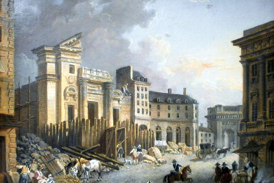 "Pierre-Antoine Demachy, ""Destruction of the Church of Saint-Barthélemy (by the Revolutionaries),"" 1791"