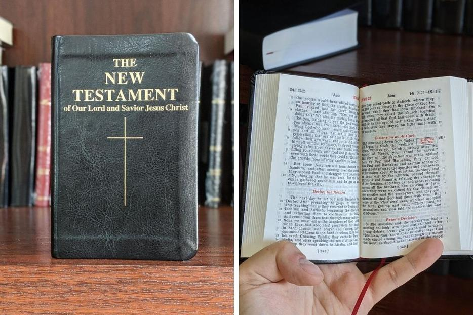 New editions of the Confraternity Bible are English translations of the Vulgate Bible attributed to St. Jerome.