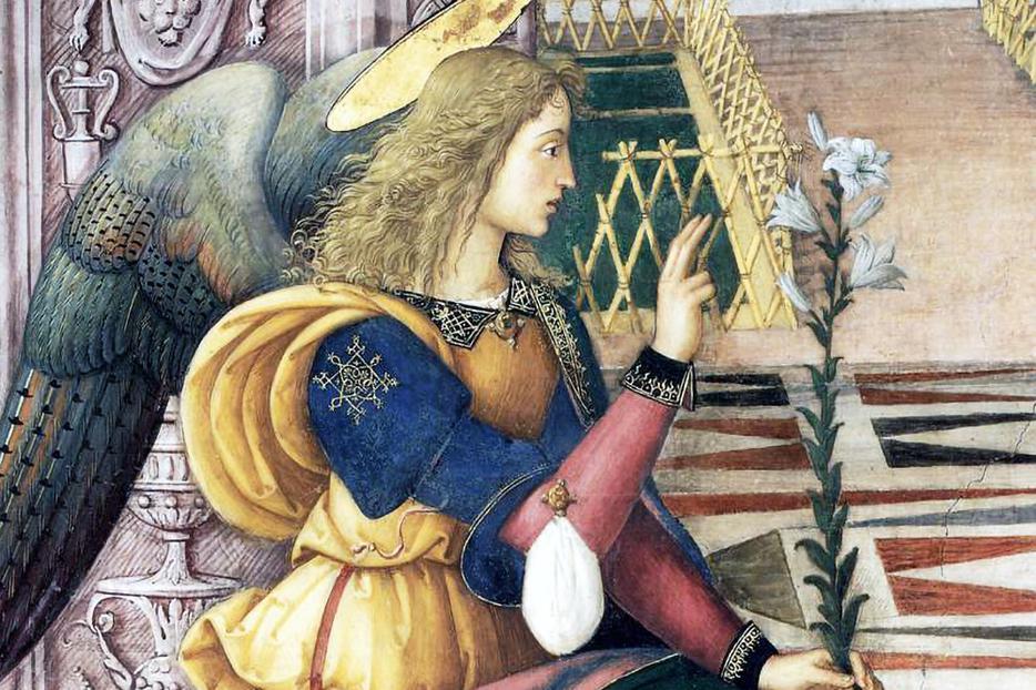 "Pinturicchio, ""The Annuciation"" (detail), 1501"