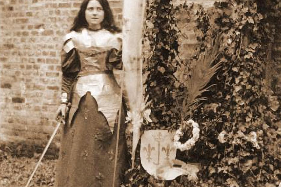 St. Thérèse dressed as St. Joan of Arc in 1895.