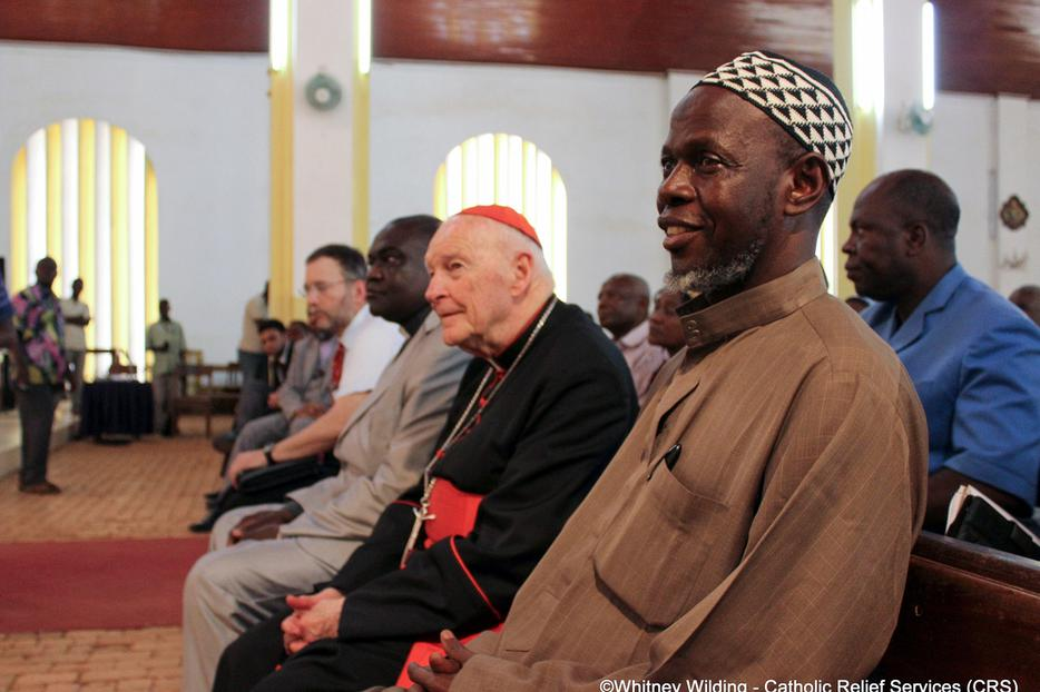 Cardinal Theodore McCarrick met with religious leaders in the CAR to discuss possible solutions to end recent violence on April 8, 2014.