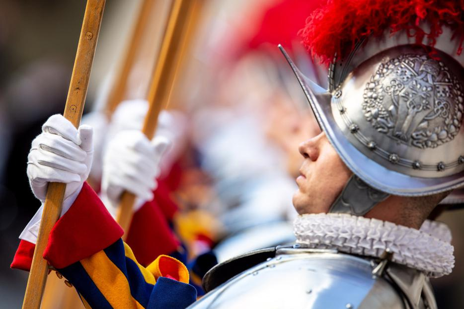 The Swiss Guard swearing in ceremony at the Vatican on May 6, 2019, which included 23 new members.