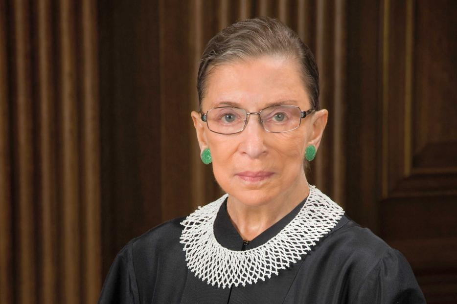 The late Supreme Court Justice Ruth Bader Ginsburg in her official Supreme Court portrait.
