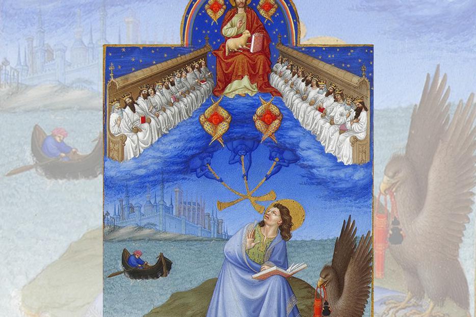 "Limbourg Brothers, ""Saint John on Patmos,"" c. 1414"