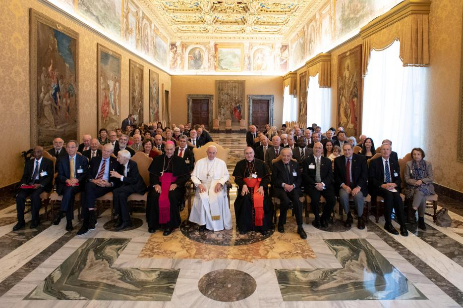 Pope Francis met with participants in the Plenary Assembly of the Pontifical Academy of Sciences at the Vatican on Nov. 12, 2018.