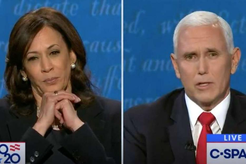 Vice President Mike Pence and Sen. Kamala Harris, Oct. 7, 2020.