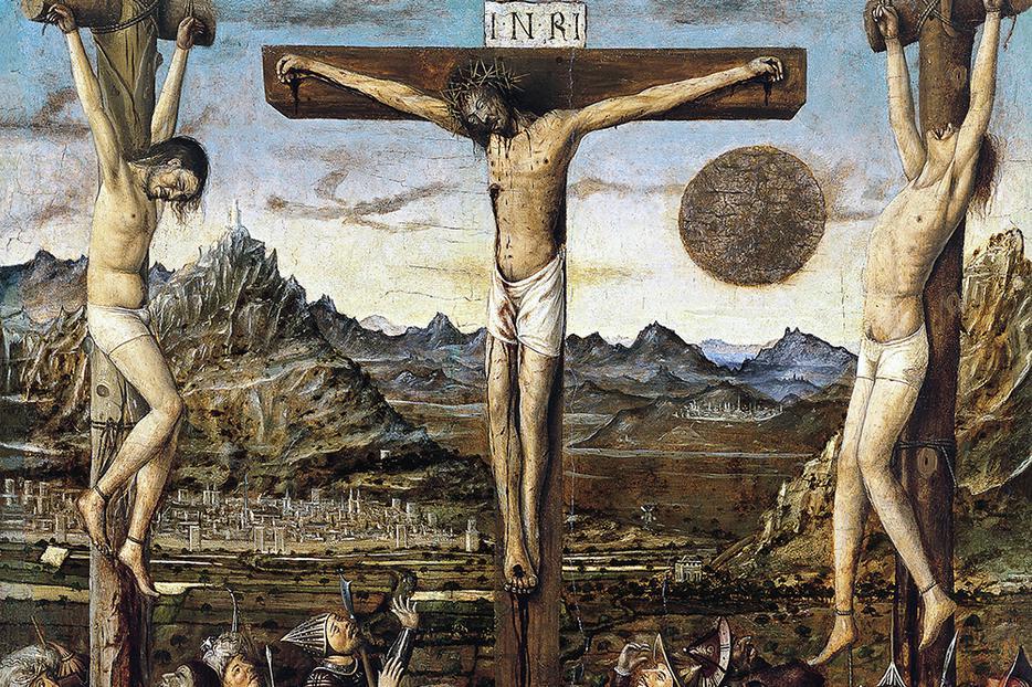 "Niccolò Antonio Colantonio [c. 1420-1460], ""Crucifixion"""