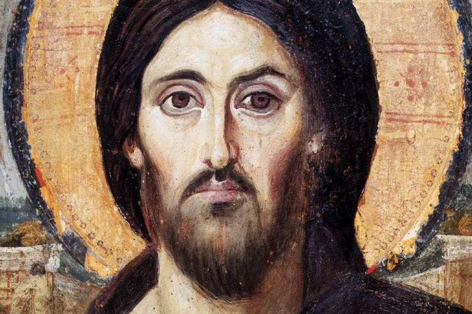 Christ the Saviour (Pantokrator), a 6th-century encaustic icon from Saint Catherine's Monastery, Mount Sinai.