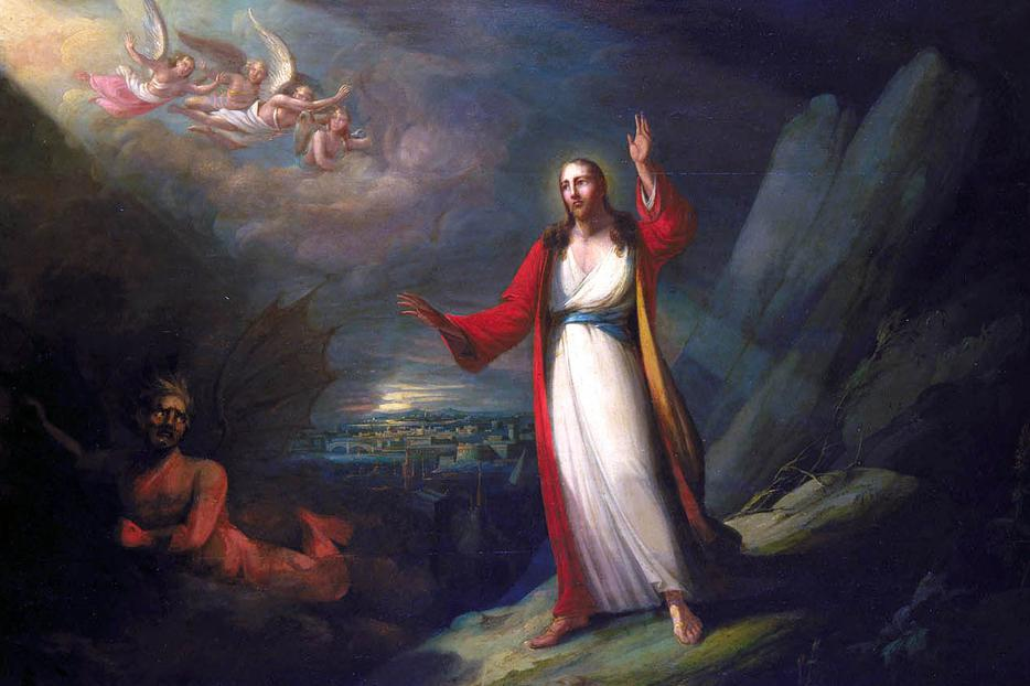 """John Ritto Penniman, """"Christ Tempted by the Devil,"""" 1818"""