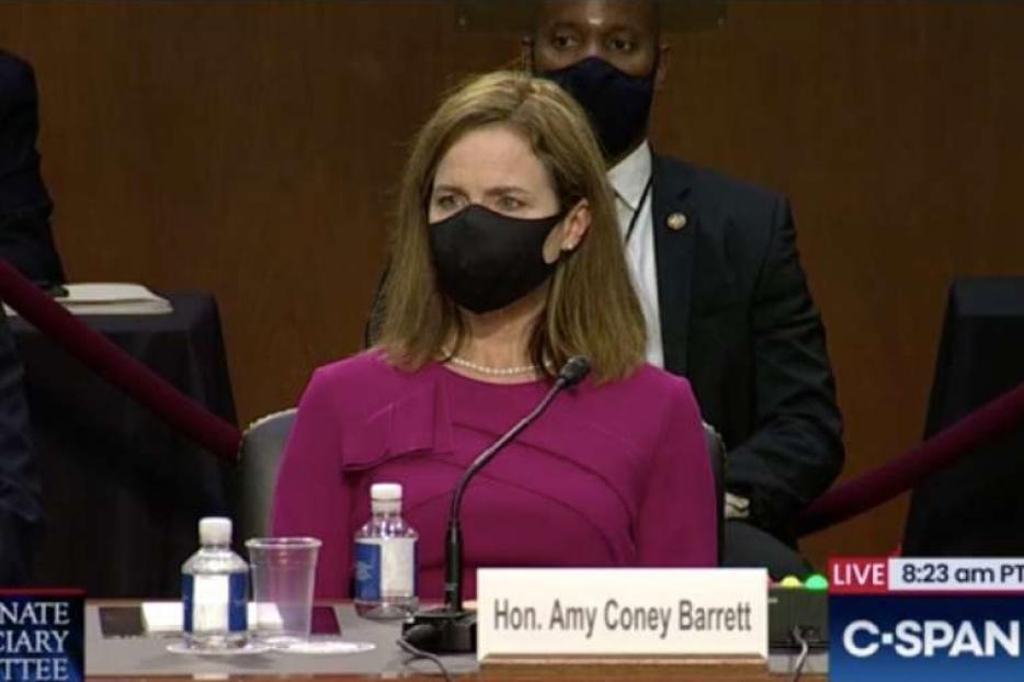 Judge Amy Coney Barrett begins her Senate confirmation hearing on October 12, 2020.