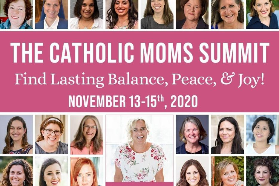 Danielle Bean will join 80 other speakers, some shown here, to talk all things Catholic motherhood Nov. 13-15.