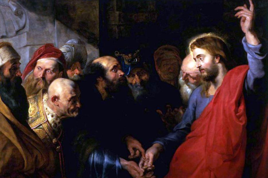 """Peter Paul Rubens, """"The Tribute Money,"""" c. 1612"""