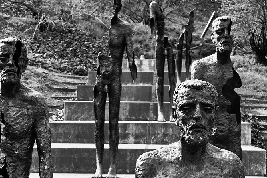 The Memorial to the Victims of Communism in Prague, Czech Republic, by sculptor Olbram Zoubek
