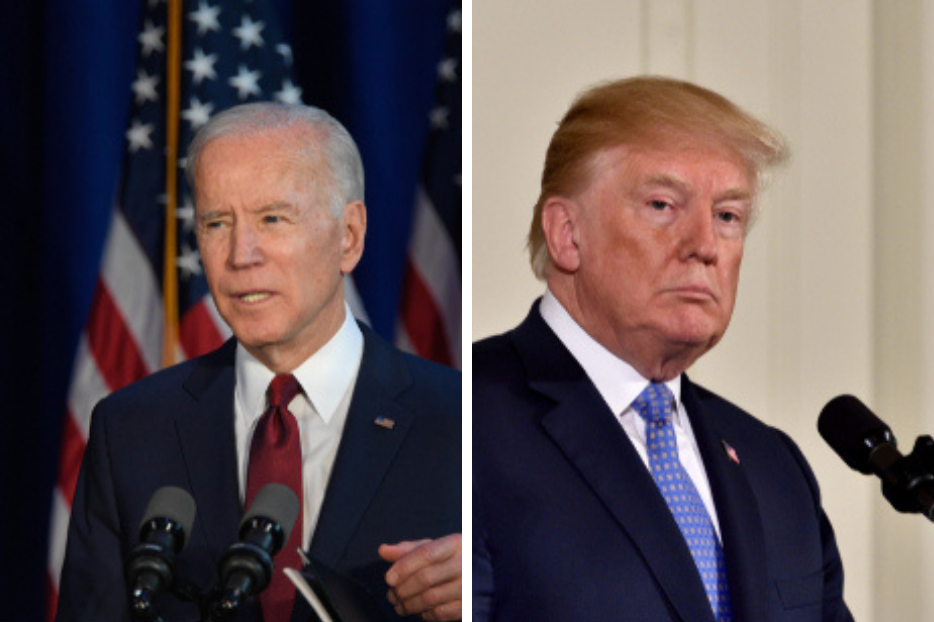 Presidential Democratic nominee Joe Biden (l) and Republican President Donald Trump have different approaches to how best to address racial disparities.