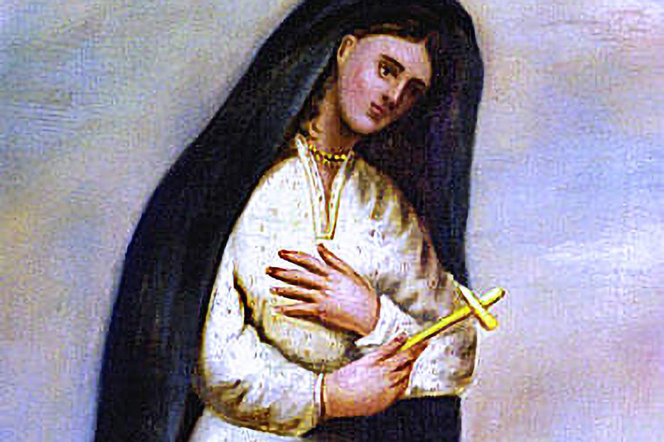 This contemporary portrait of St. Kateri Tekakwitha was painted by Father Claude Chauchetière around 1696