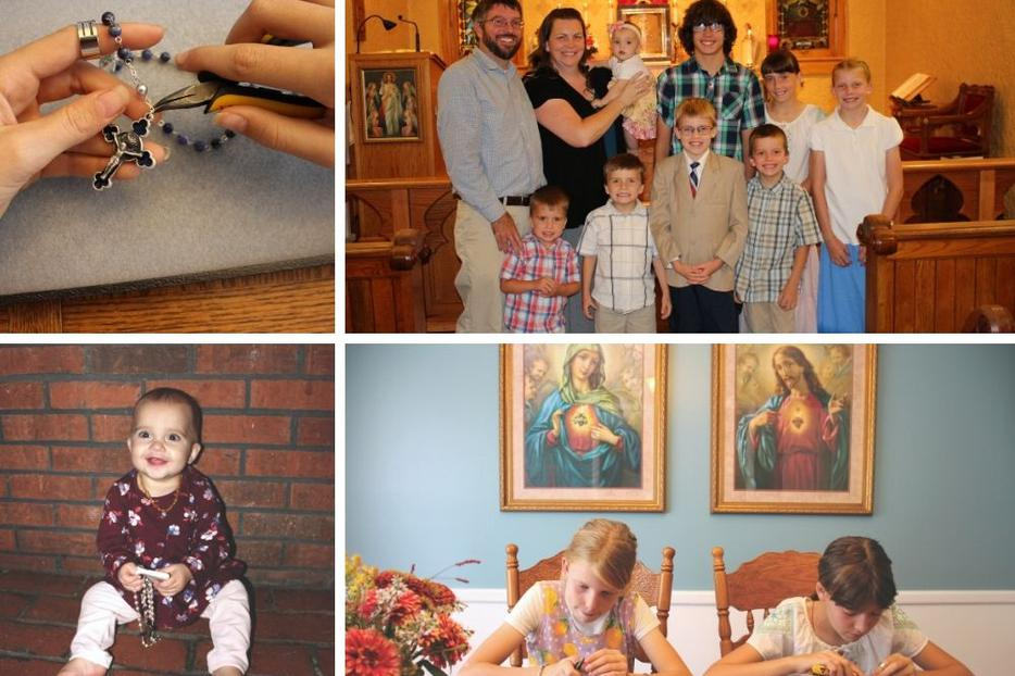 For the Doucette family, rosary-making is a family activity.
