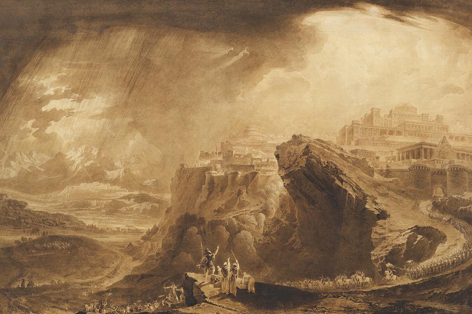 "John Martin, ""Joshua Commanding the Sun to Stand Still Upon Gibeon,"" c. 1822"