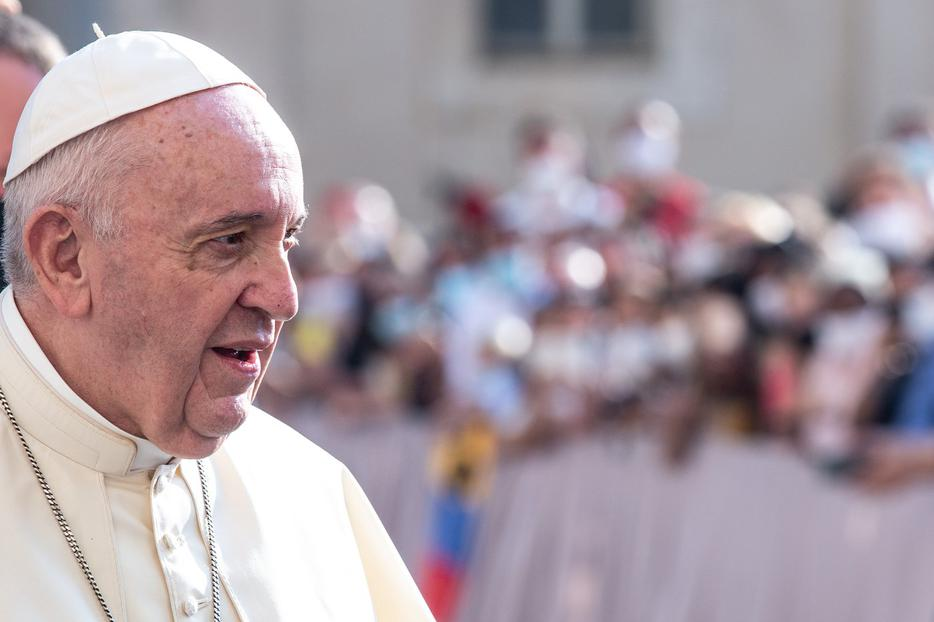 Pope Francis attends his Wednesday general audience inside the San Damaso Courtyard of the Vatican Apostolic Palace on Sept. 16. Reported papal comments from a new documentary have stirred confusion.