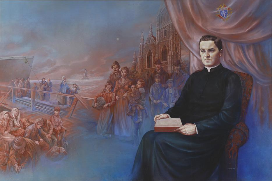 """Founding Vision"" by Antonella Cappuccio. A portrait of Father Michael J. McGivney."