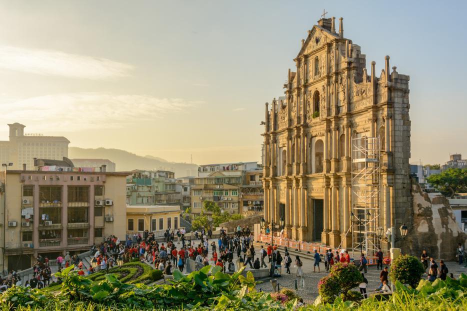 Ruins of Saint Paul's Church in Macau, China.