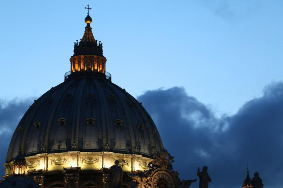 The cupola of St. Peter's Basilica on April 26, 2014.
