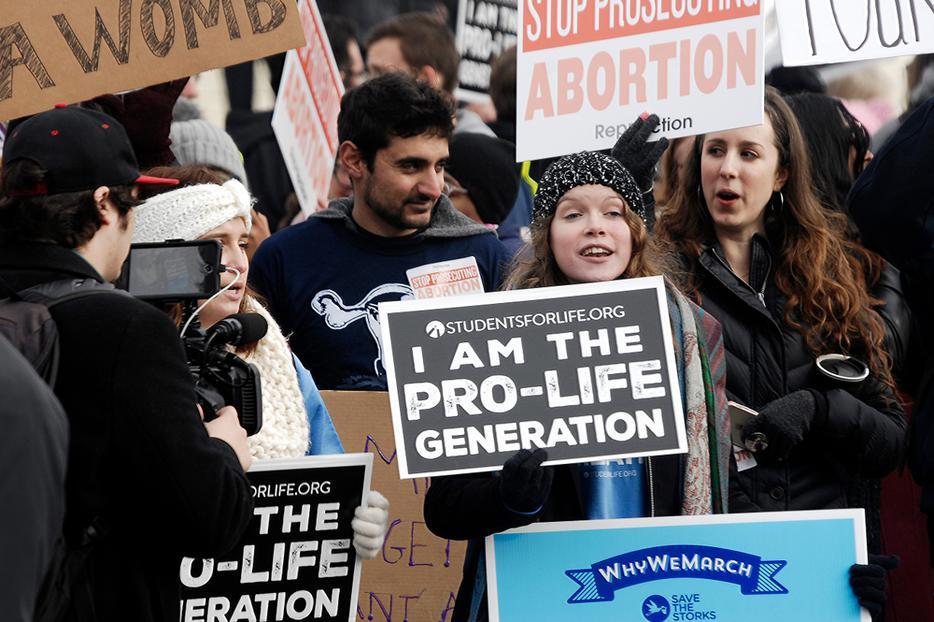 Pro-life community protesting abortion in Washington, D.C.
