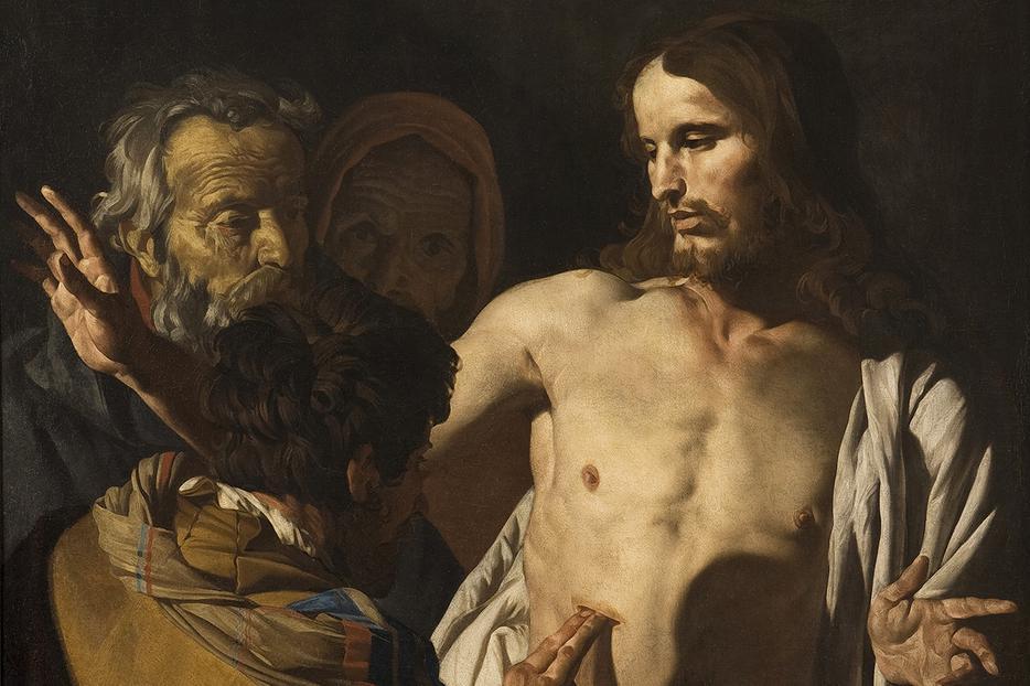 """Matthias Atom, """"The Incredulity of St. Thomas,"""" c. 1645"""