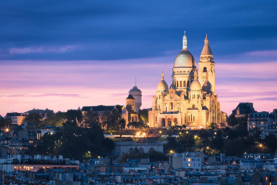 The Basilica of the Sacred Heart (Sacre Cœur Basilica) in Montmartre, Paris, France.