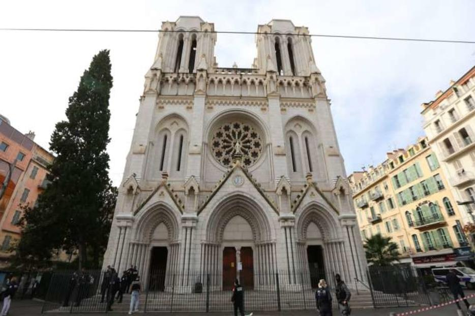 The Basilica of Notre-Dame de Nice in France.
