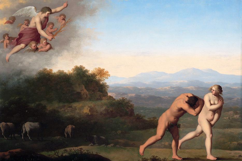 "Cornelius van Poelenburgh [1594-1667], ""The Expulsion from Paradise"""