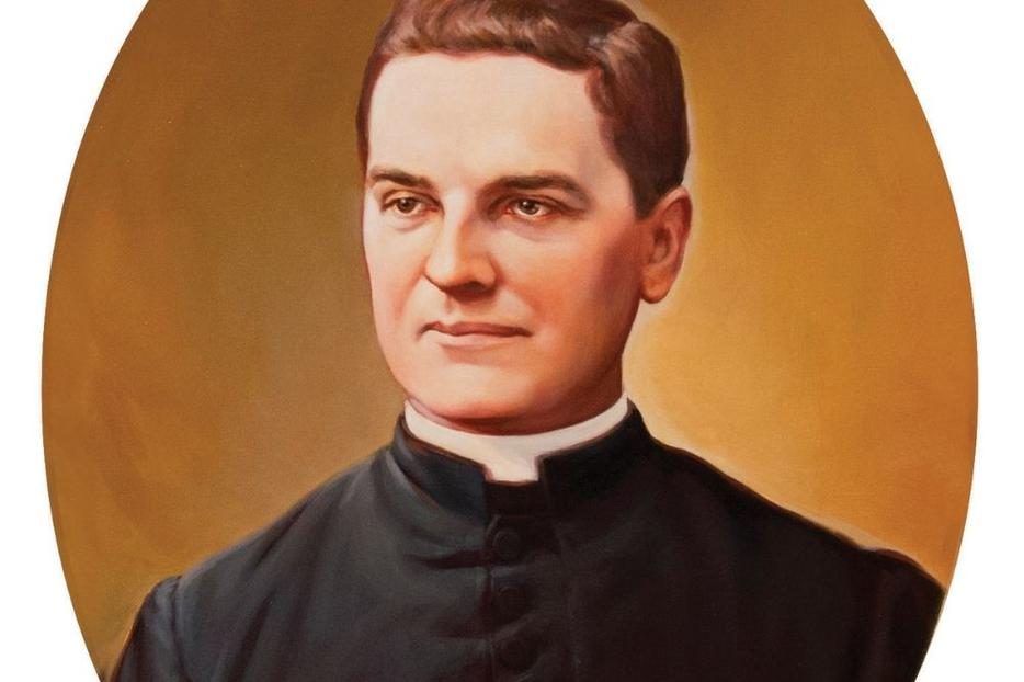 Father Michael J. McGivney, shown in a portrait by Chas Fagan, lived his vocation amid ordinary parish life.