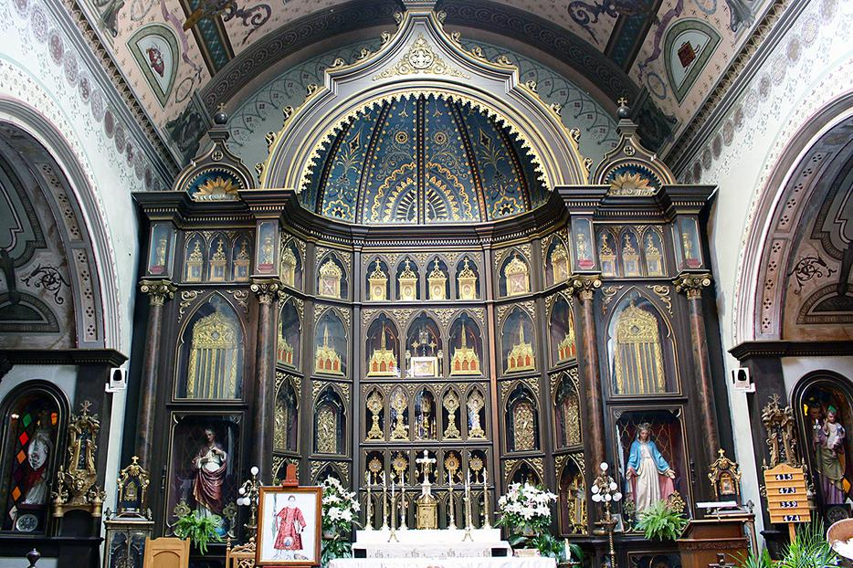 The high altar of St. Anthony's Chapel in Pittsburgh, Pennsylvania