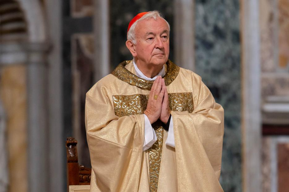 Cardinal Vincent Nichols, Archbishop of Westminster, celebrated a Mass of Thanksgiving for the canonization of St. John Henry Newman at the Basilica of St. John Lateran in Rome on Oct. 14, 2019.