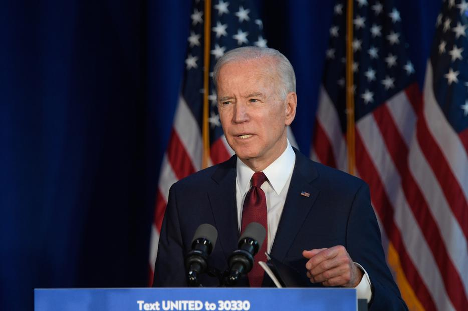 Former Vice President & Democratic hopeful Joe Biden made a foreign policy statement at Current on Pier 59 on January 7, 2020.