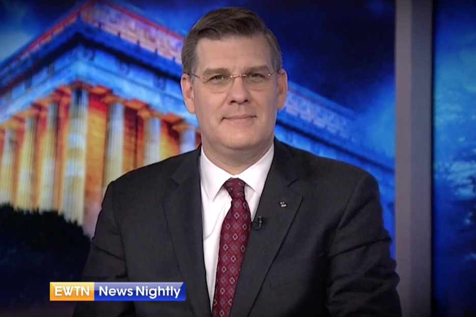 Andrew Walther appears on 'EWTN News Nightly' March 2, 2020.