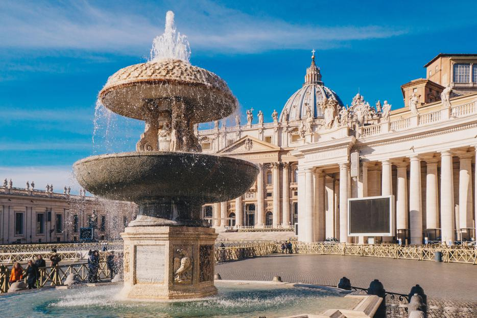 Saint Peter's Basilica in St. Peter's Square.