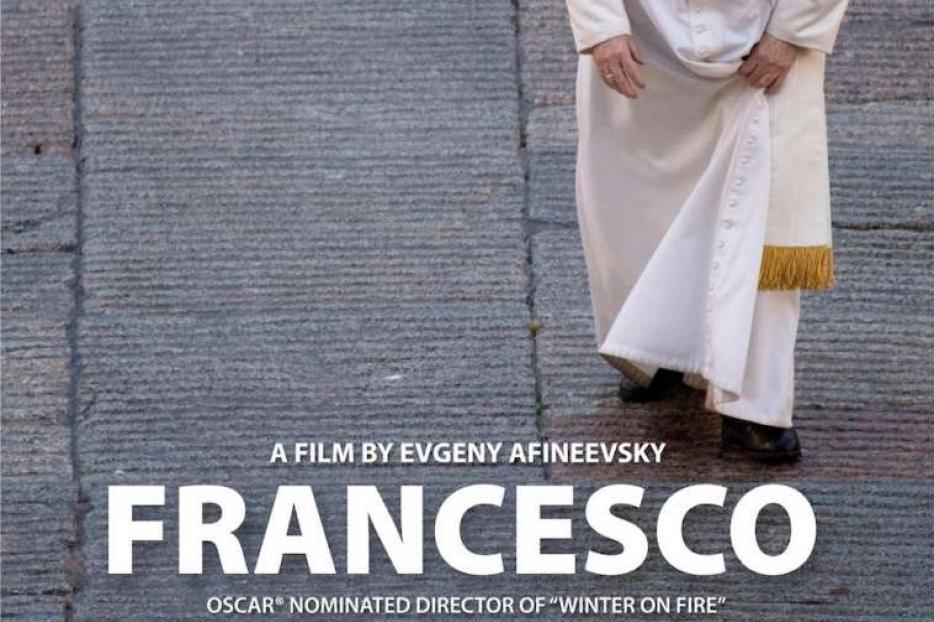 Promotional poster for the documentary 'Francesco.'