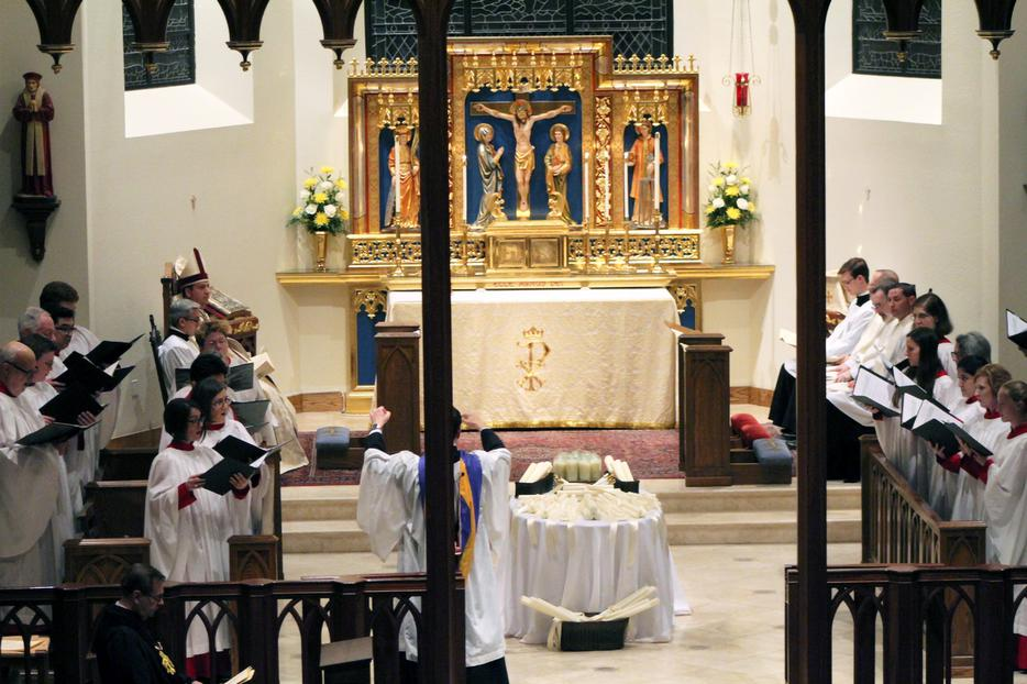 Choral Evensong is celebrated (pre-pandemic) at the Cathedral of Our Lady of Walsingham in Houston, Texas.