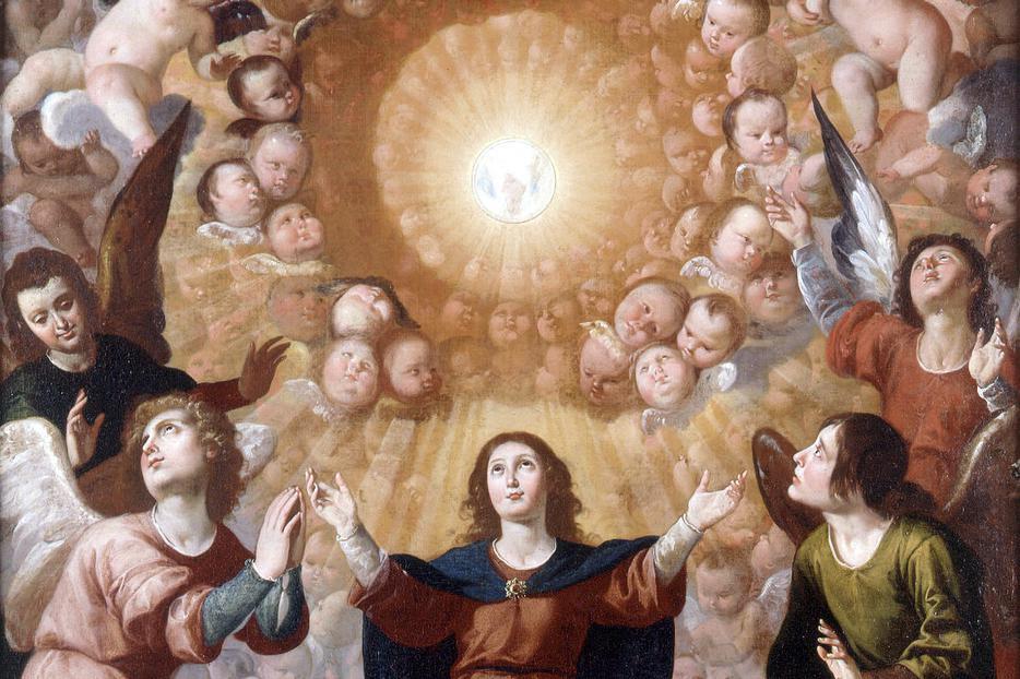 """Jerónimo Jacinto de Espinosa, """"Adoration of the Blessed Sacrament,"""" c. 1650"""