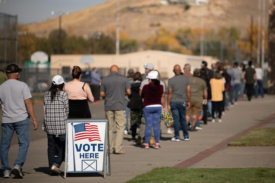 Voters in the State of Nevada go to the polls on Election Day 2020. Washoe County, Nevada is a battleground county in a battleground, swing state.